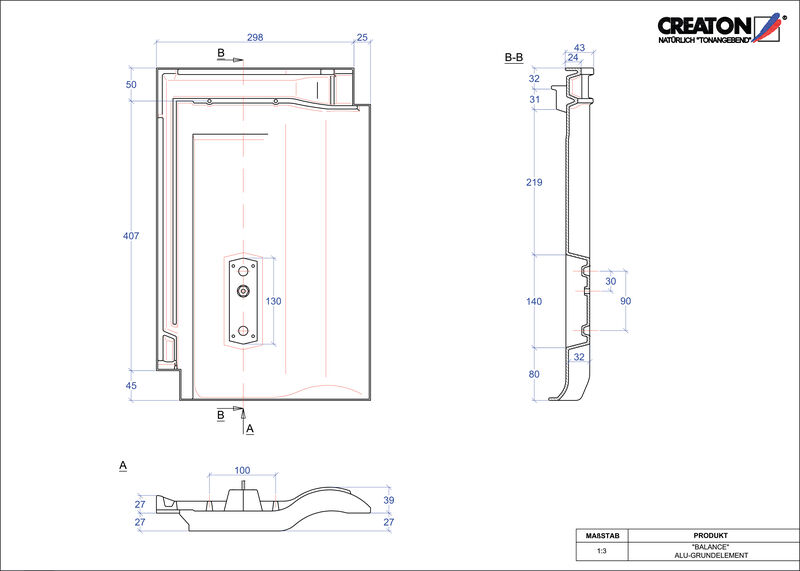 Plik CAD produktu BALANCE aluminium grunt. GRUNDALU