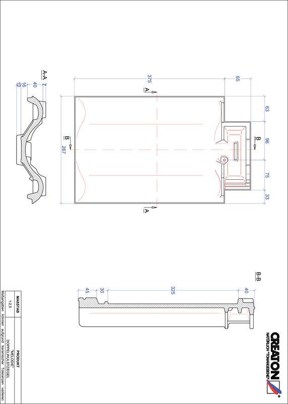 Plik CAD produktu MELODIE dachówka dwufalowa DWZ