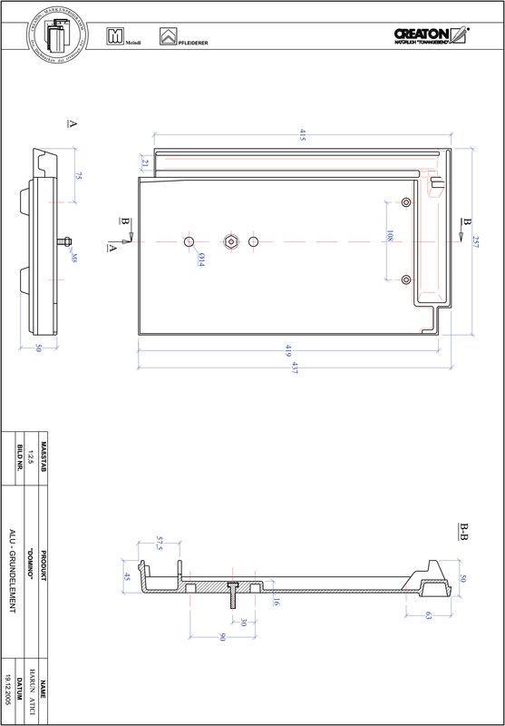 Plik CAD produktu DOMINO aluminium grunt. GRUNDALU