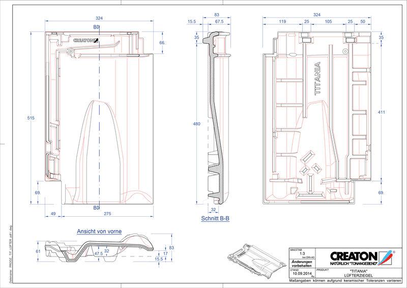 Plik CAD produktu TITANIA dachówka wentylacyjna LUEFTZ