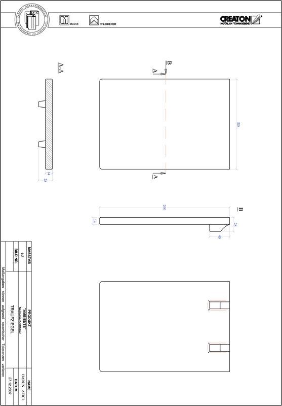 Plik CAD produktu AMBIENTE krój segmentowy SEG-TRAUFZIEGEL