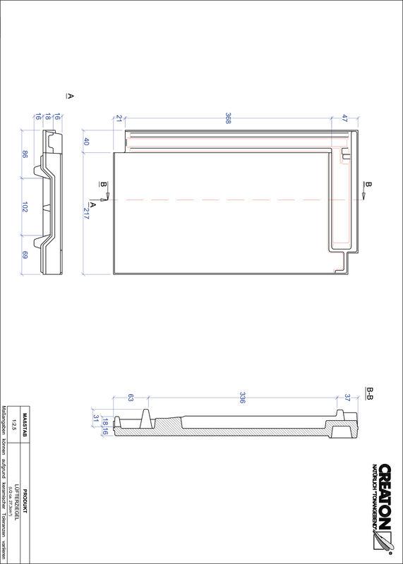 Plik CAD produktu DOMINO dachówka wentylacyjna LUEFTZ