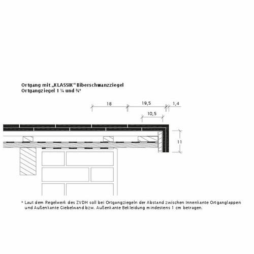 Rysunek techniczny produktu KLASSIK OBR KLASSIK-3-4-1-4-Ortgang