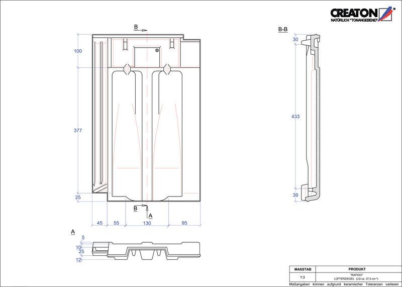 Plik CAD produktu RAPIDO dachówka wentylacyjna LUEFTZ