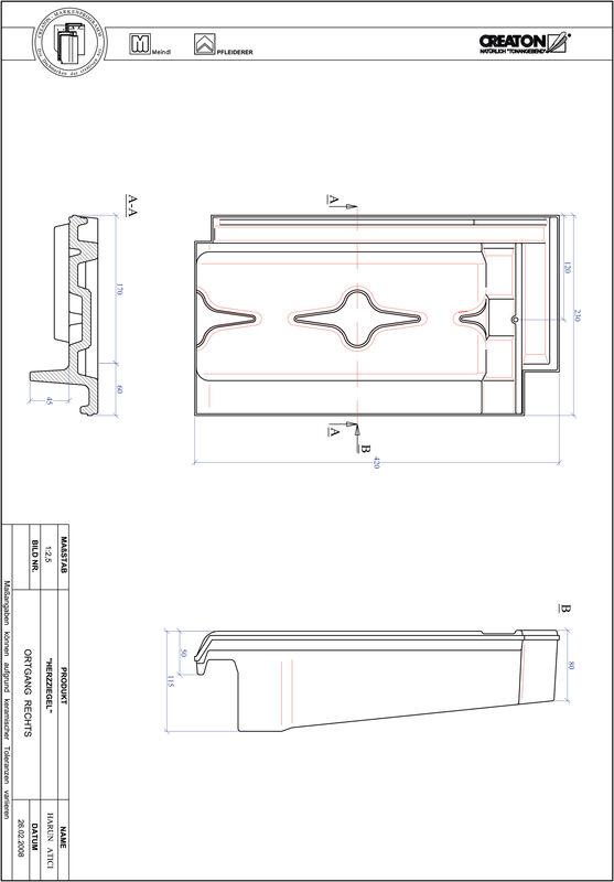 Plik CAD produktu HERZZIEGEL dachówka boczna prawa OGR