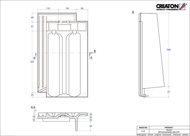 Plik CAD produktu RATIO dachówka boczna prawa OGR
