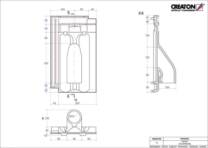 Plik CAD produktu RATIO dachówka przelotowa do systemu baterii solarnych SOLAR