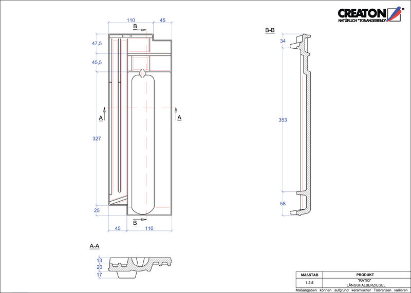 Plik CAD produktu RATIO dachówka połówkowa LH