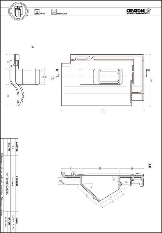 Plik CAD produktu FUTURA dachówka antenowa ANTENNE