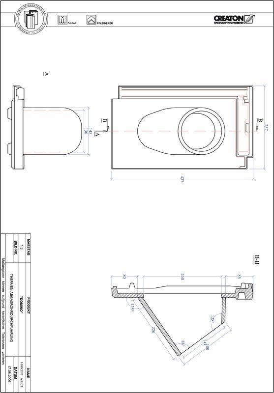 Plik CAD produktu DOMINO dachówka przelotowa do kominów gazowych THERME