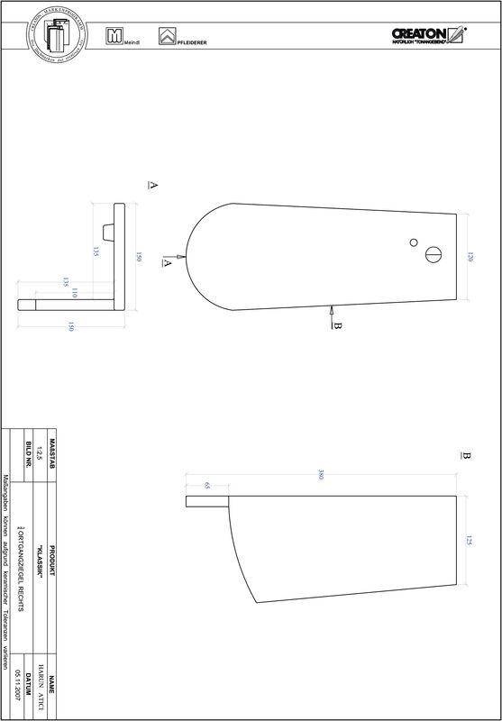 Plik CAD produktu KLASSIK krój zaokrąglony RUND-OGR-3-4