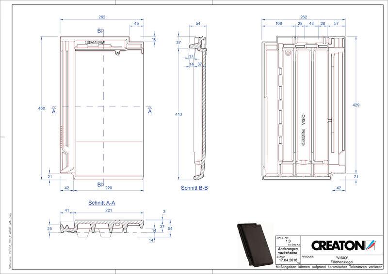 Plik CAD produktu VISIO dachówka połaciowa FLA