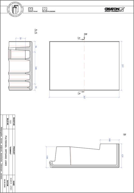 Plik CAD produktu DOMINO dachówka pulpitowa boczna lewa PULTOGL