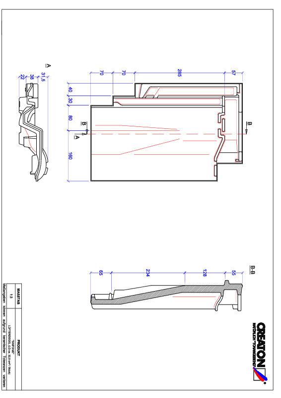 Plik CAD produktu SINFONIE dachówka wentylacyjna LUEFTZ
