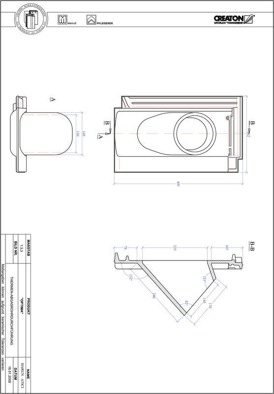Plik CAD produktu TERRA OPTIMA dachówka przelotowa do kominów gazowych THERME