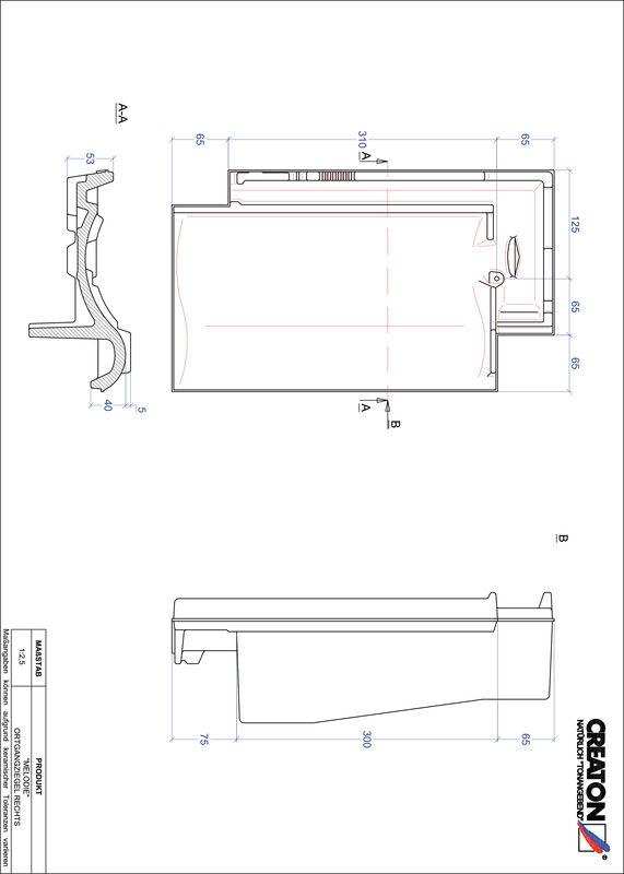 Plik CAD produktu MELODIE dachówka boczna prawa OGR