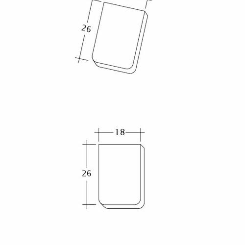 Rysunek techniczny produktu AMBIENTE Seg-Traufziegel